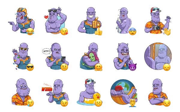 Thanos Sticker Pack