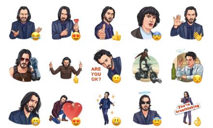 Keanu Reeves Sticker Pack