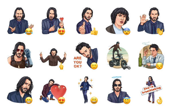 Keanu Reeves Sticker Pack