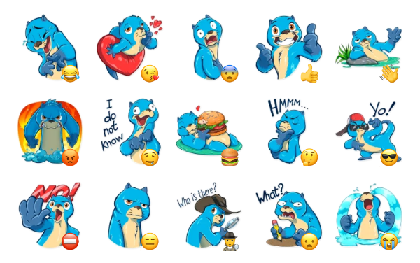 Otter Mr. Otto Sticker Pack