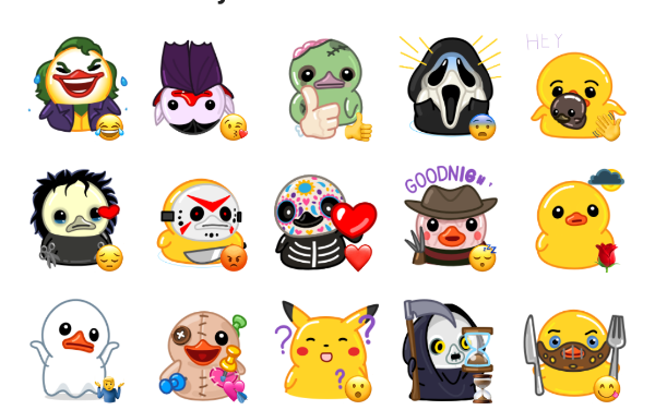 Halloween Utya Sticker Pack