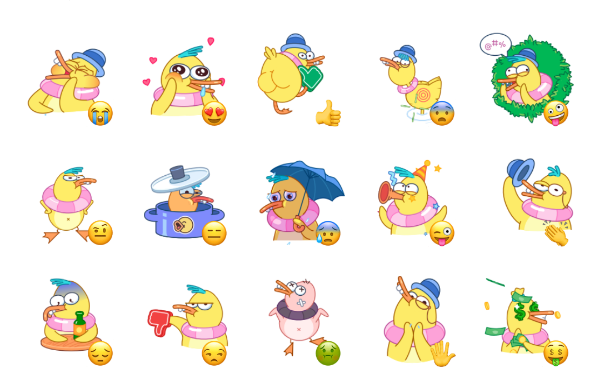 Gagik the Duck Sticker Pack