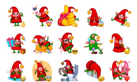 Christmas Elf Sticker Pack