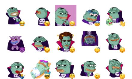 Pepe Vampire Sticker Pack