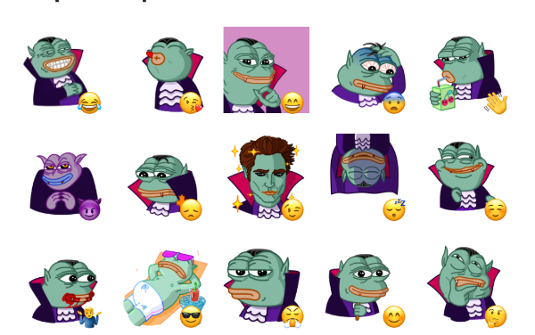 Pepe Vampire Sticker Pack