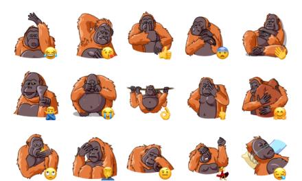 Orangoutang Sticker Pack